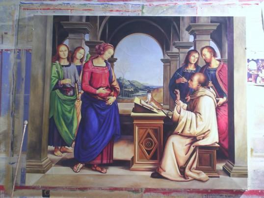 Szent Bernát látomása - alkalmazott másolata  200 x 250 cm. olaj, vászon.